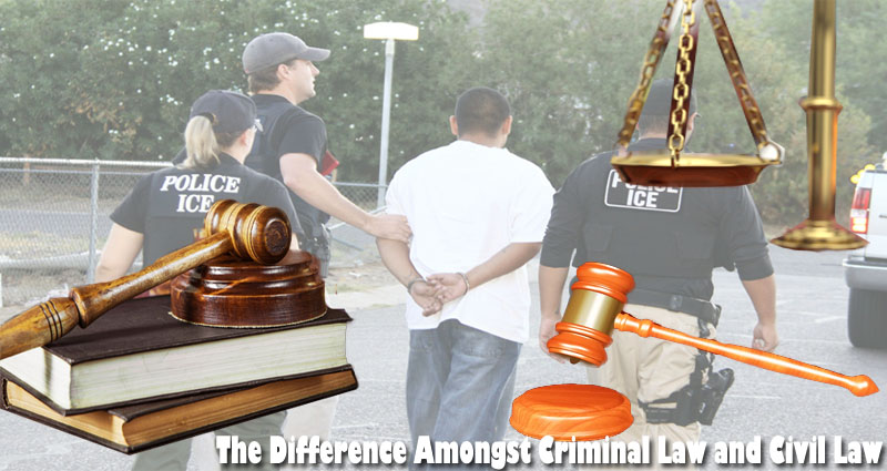 The Difference Amongst Criminal Law and Civil Law